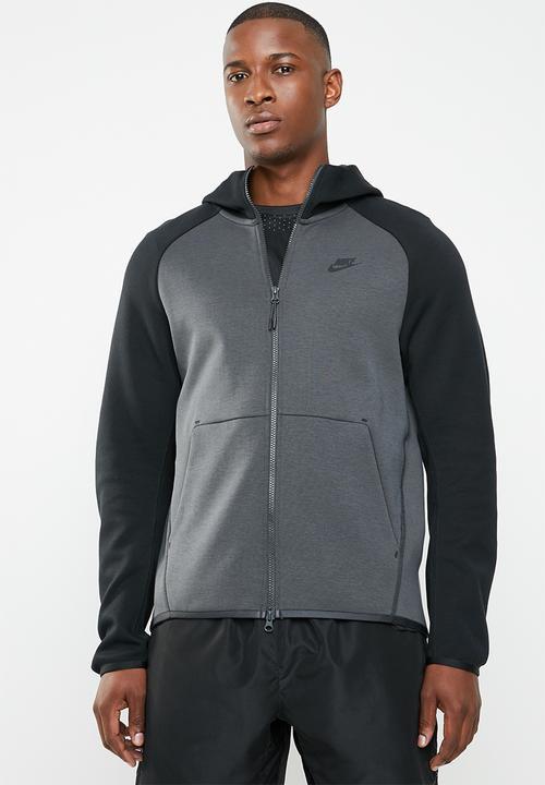 the latest fb388 65ef0 Nike - Tech fleece hoodie FZ - black   grey