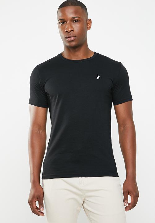 105da551f319 Crew neck short sleeve tee - black white POLO T-Shirts   Vests ...