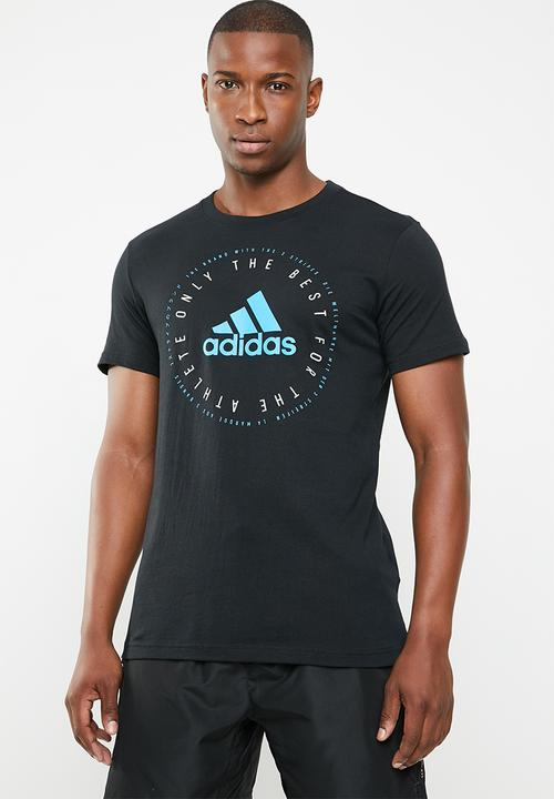 7789cdf32 Mh emeblem short sleeve tee - black Adidas T-Shirts