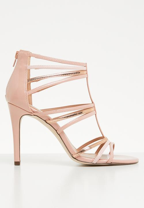09372a58ab9 Amanita faux suede strappy stiletto heel - light pink Call It Spring ...