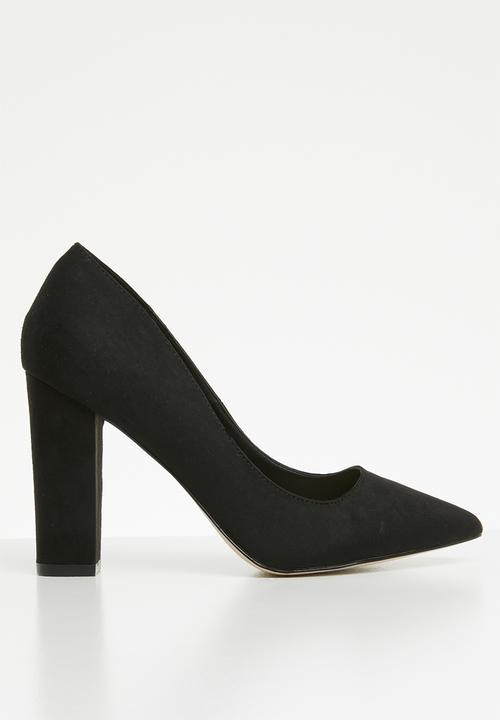 Elama suede leather pointed block heel