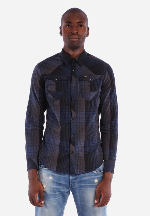 34b63732e7b54b Arc 3D Shirt - Mazarine Blue G-Star RAW Shirts   Superbalist.com