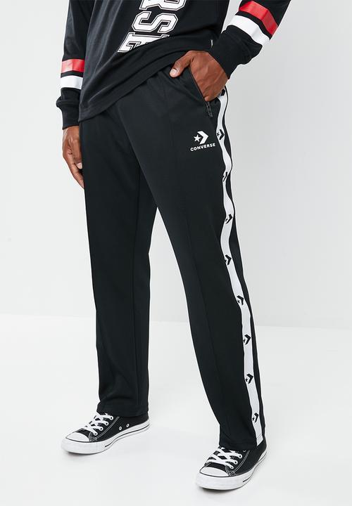 afcc1f2f3e04 Star chevron track pant-black Converse Pants   Chinos
