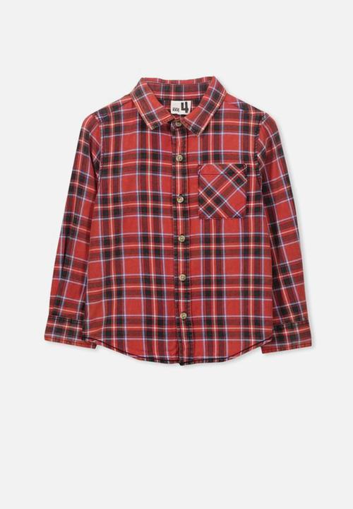 fac94d03a96 Noah long sleeve shirt - red