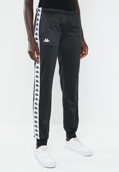 1ca5699f5773 222 Banda Wrastoria slim fit track pants - A62 black and white KAPPA ...