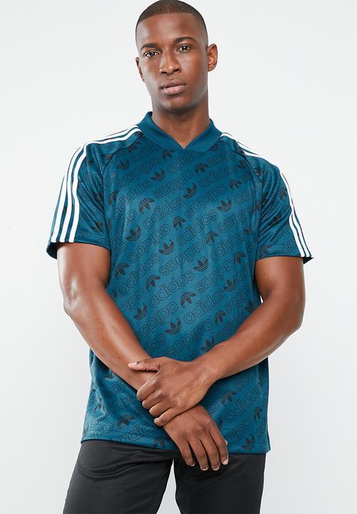 foglia aneddoto Di meno  adidas Monogram short sleeve jersey tee - legend marine/white adidas  Originals T-Shirts   Superbalist.com