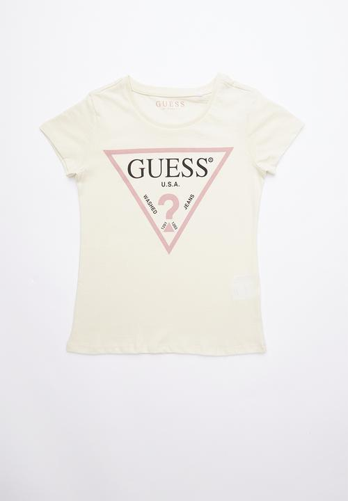 4d78997beee0 Short sleeve classic tri tee - pale yellow GUESS Tops | Superbalist.com