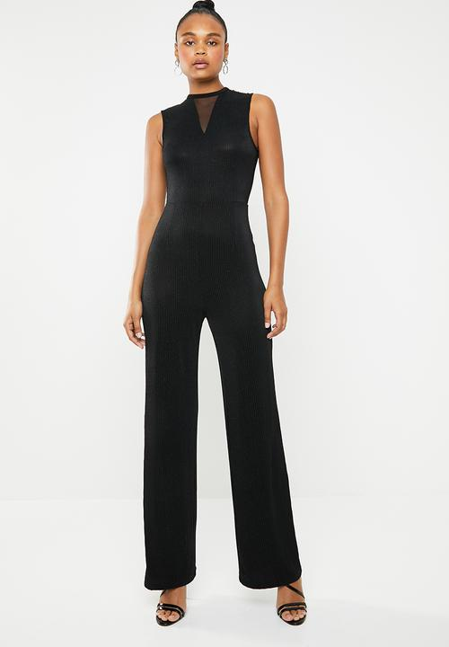 c5b8ed6f256 Cosmo lurex sleeveless jumpsuit - black ONLY Jumpsuits   Playsuits ...