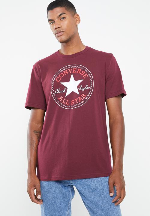 6e041753c0f0 Chuck patch short sleeve tee - dark burgundy Converse T-Shirts ...