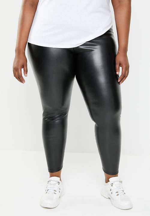 6bbf4614aa81b Wet look leggings -black STYLE REPUBLIC PLUS Bottoms & Skirts ...