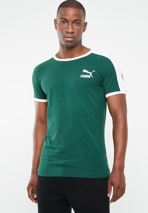 Iconic T7 slim fit tee green