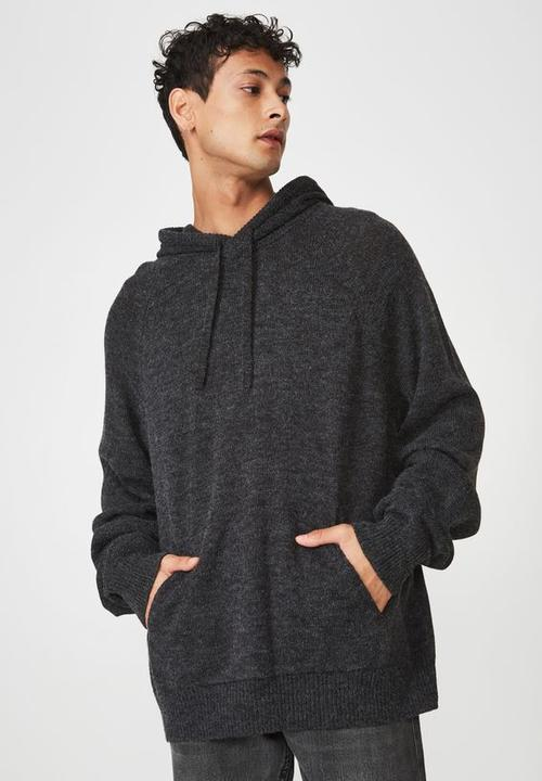 Hooded Sweater Knit   Black by Cotton On