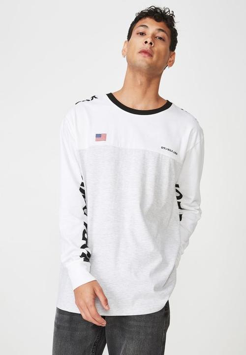 ceb59f99d55072 Vision worldwide tbar long sleeve tee - white Cotton On T-Shirts ...