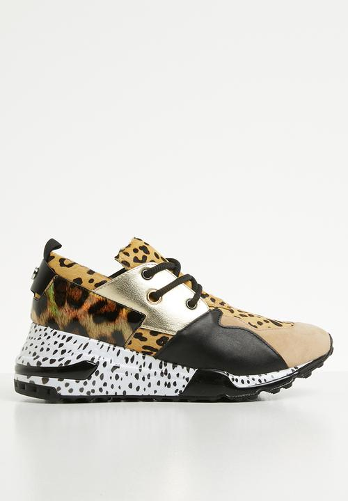 4a09a0ff Cliff leopard print lace-up sneaker - animal Steve Madden Pumps ...