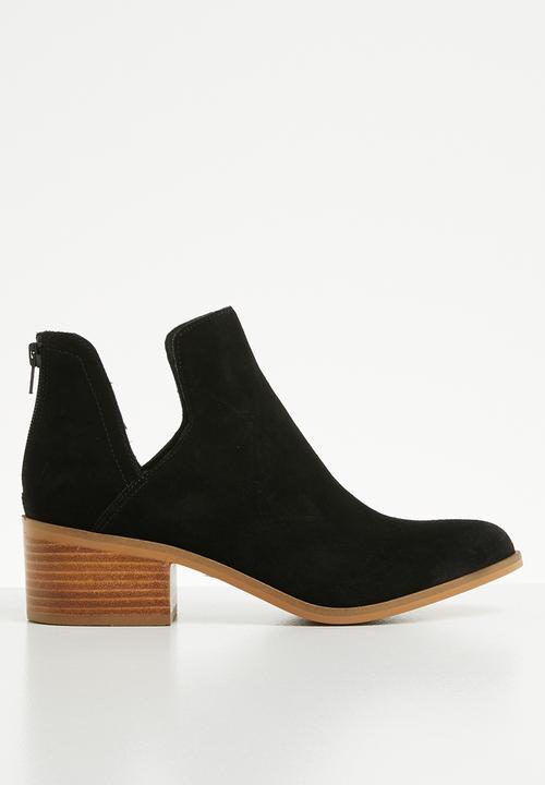 22004116f7a Lancaster block heel ankle boot - black Steve Madden Boots ...