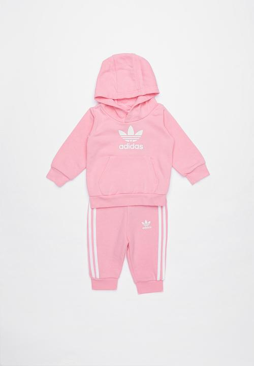 e38edf5f Adidas trefoil tracksuit - pink & white adidas Jackets & Knitwear ...
