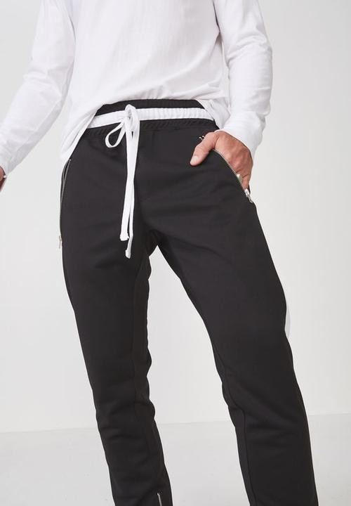 8de97af673 Urban side stripe track pant - black/white panel Cotton On Pants ...