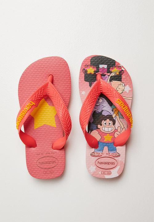 d5ea75229 Kids cartoon flip flops - mid pink Havaianas Shoes