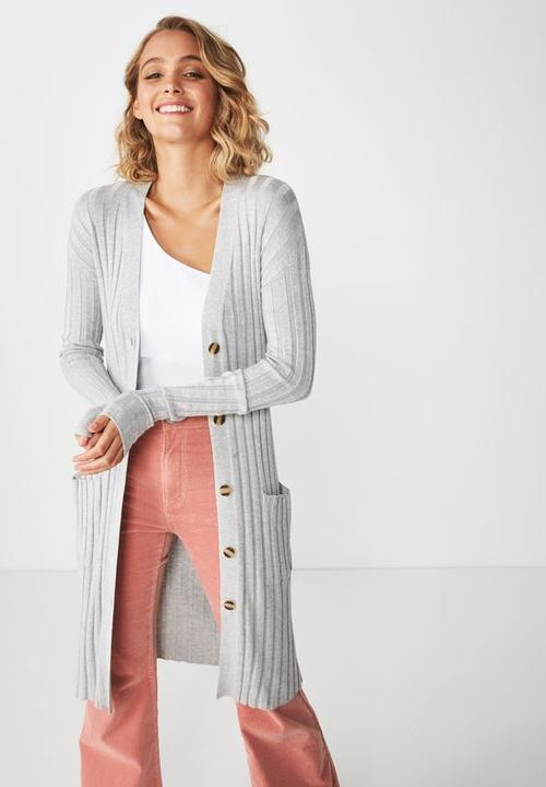 9d3cd9cf011 Quinnie buttoned longline cardigan - grey marle Cotton On Knitwear ...