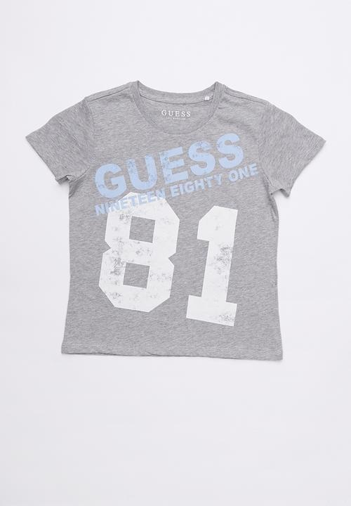 943bd3428 Short Sleeve Guess Oversized Tee Grey GUESS Tops | Superbalist.com