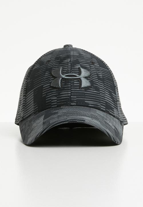 01022f38298 Men s printed blitzing 3.0 cap - black pitch grey Under Armour ...