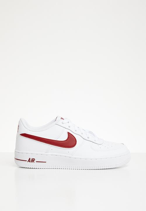 04aa3c4a21c Air force 1-3 bg - white gym red Nike Shoes
