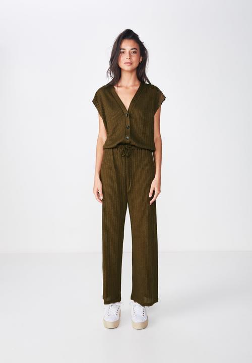 0bc1cc605925 Dea wide leg jumpsuit - beech green Cotton On Jumpsuits & Playsuits ...