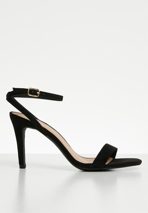 8ff9f42196 Wide fit strappy square toe heels - black New Look Heels ...