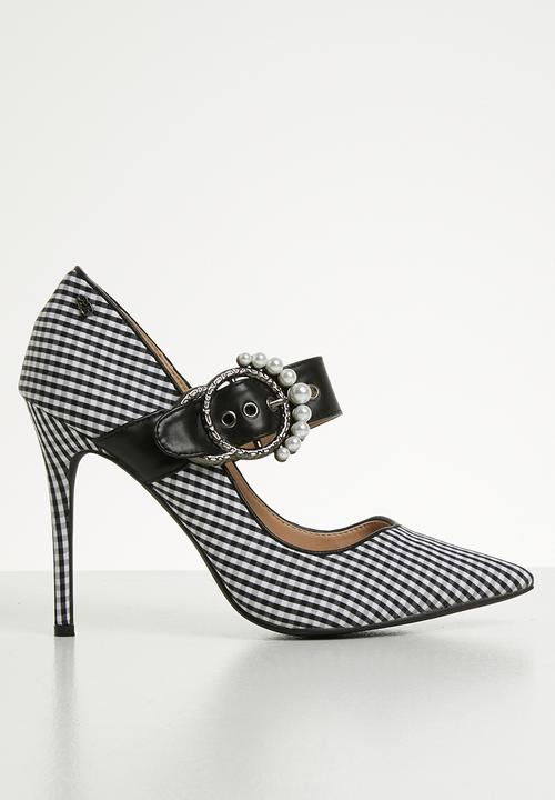 441508b690e Karabo mary jane heels - black white Miss Black Heels