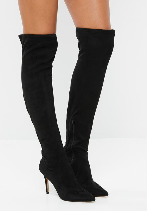 e54e77cb69c Mereallyra faux suede pointed stiletto heel over-the-knee boot ...