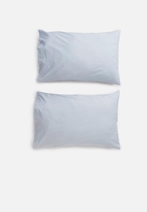 Cotton Pillowcase Set   Grey by Sixth Floor