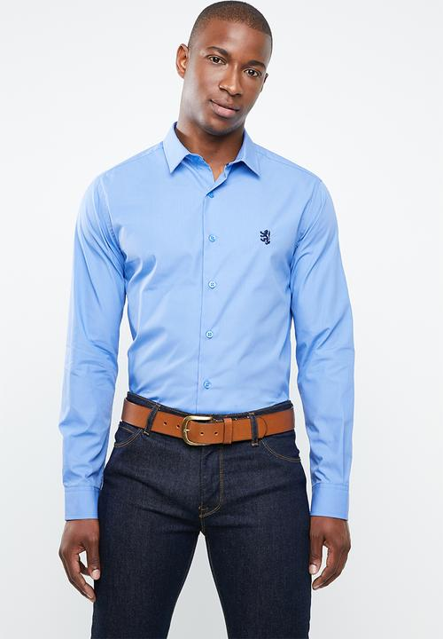 9e89f10ea Niall long sleeve styled shirt - blue Pringle of Scotland Shirts ...