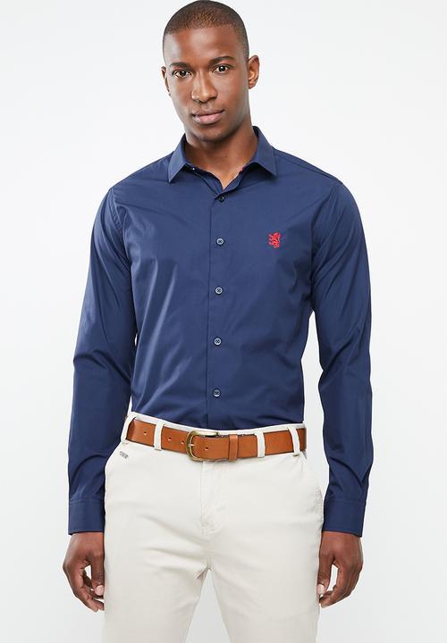 097dc3ac2 Niall long sleeve styled shirt - navy Pringle of Scotland Shirts ...