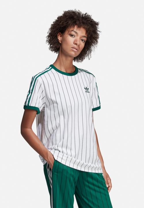 01c8436809e Boyfriend tee - white & green adidas Originals T-Shirts ...