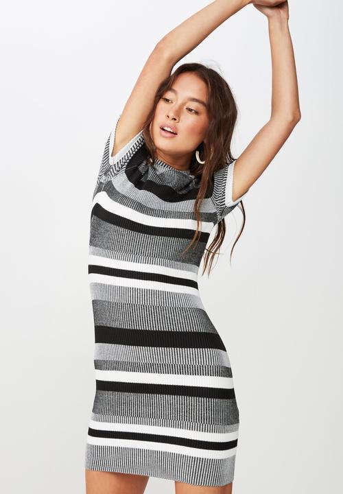 aabd0da59 Lottie true knit mini dress - stripe charcoal Cotton On Casual ...