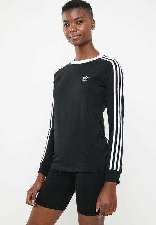 24fffec5a 3 Stripe longsleeve tee - black adidas Originals T-Shirts ...