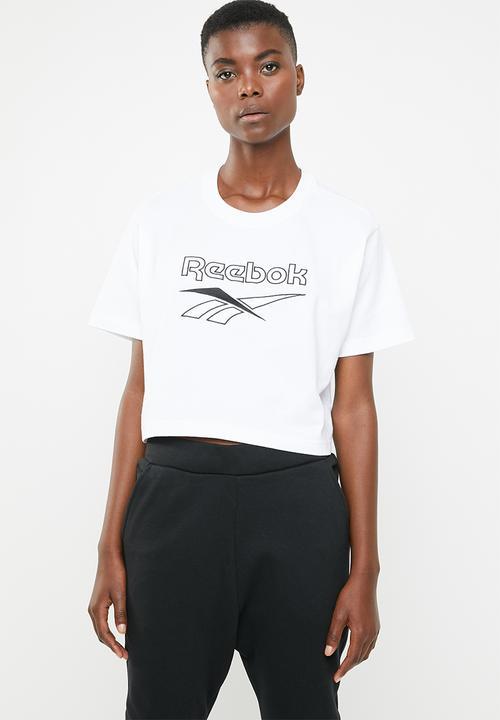 3f91f58b95ece Classic crop tee - white Reebok Classic T-Shirts