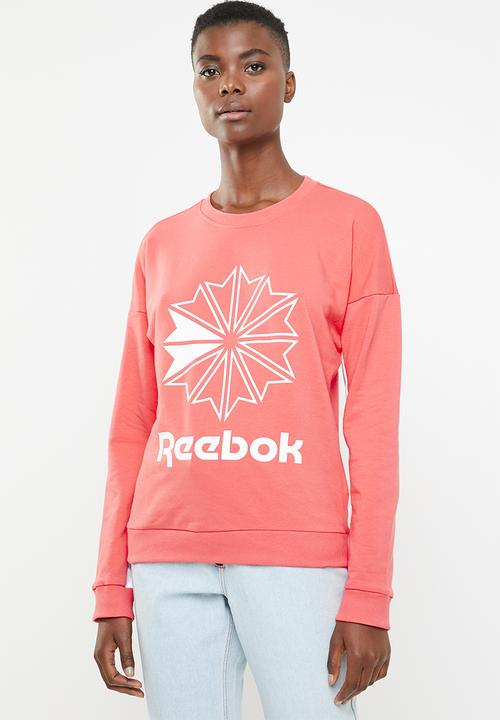 bd0f89fab1b94 Reebok Classic - Classic French terry big logo crew sweatshirt - pink