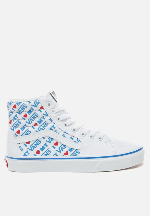 b3a784802e UA SK8-Hi - (I Heart Vans) true white true white Vans Sneakers ...