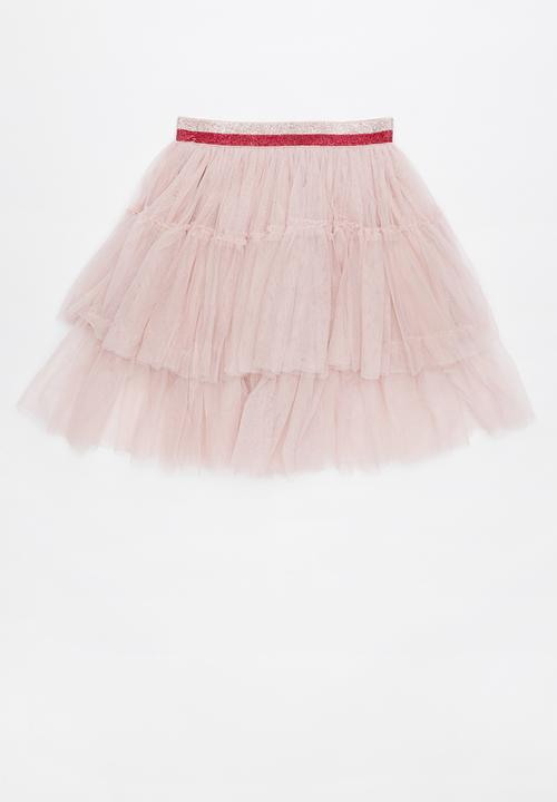 30a8656e17 Trixiebelle tulle skirt - dusty pink tiered Cotton On Dresses ...