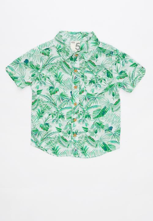 662790f3482 Jackson short sleeve shirt - green & white