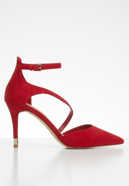 3f96184f20d Ankle strap stiletto heel - red
