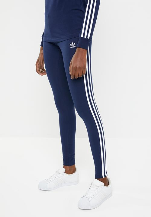 8594f286ea25d 3 Stripe leggings - dark blue adidas Originals Bottoms | Superbalist.com