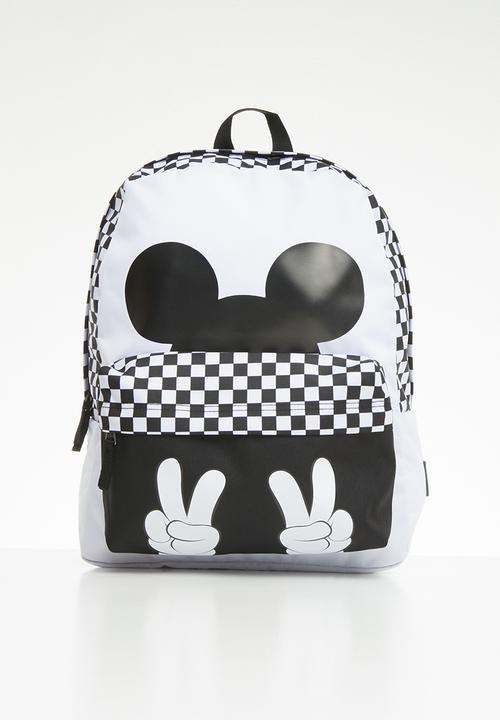 96e1d488854 Checkerboard mickey realm backpack - white black Vans Accessories ...
