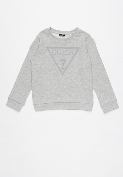 260288052688af Long sleeve active top - light grey heather GUESS Tops | Superbalist.com