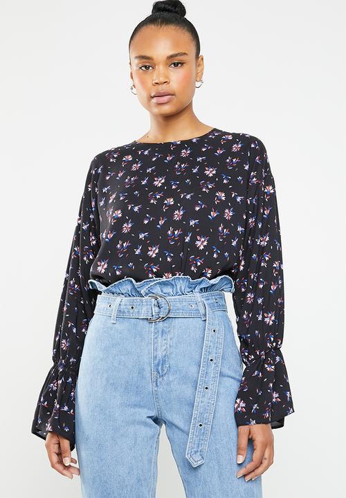 1d40df5bfb6559 Drop shoulder blouse - geo floral Superbalist Blouses | Superbalist.com