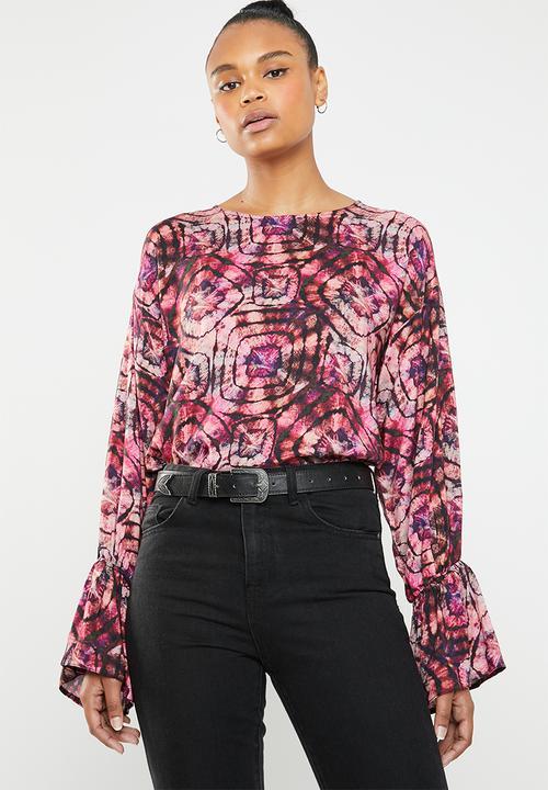 257da84b1df75f Drop shoulder blouse - ring tye dye Superbalist Blouses ...
