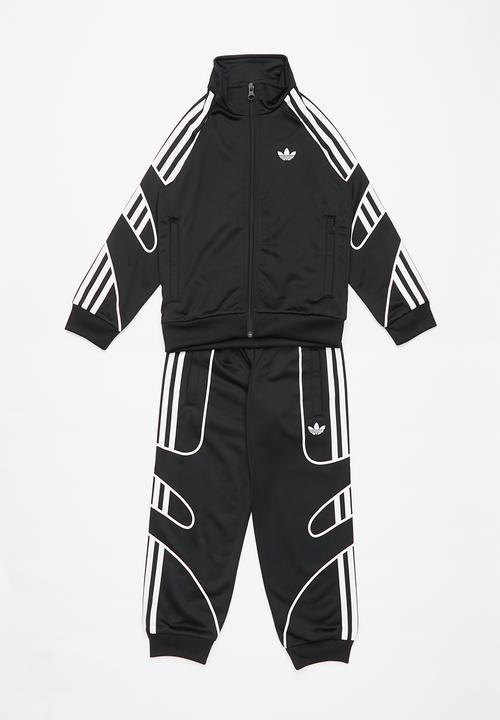 adidas originals black and white tracksuit