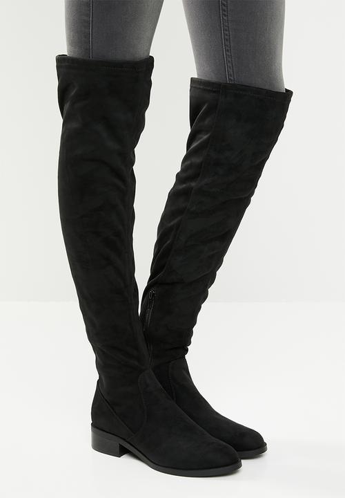 1ec091f4aa3 Over-the-knee boot - black