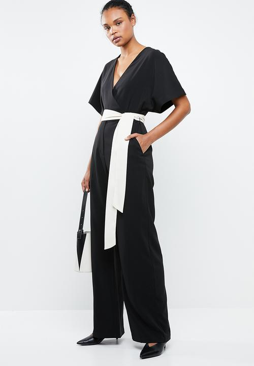d85c692d719d5 Sash belt kimono jumpsuit - black MANGO Jumpsuits & Playsuits ...